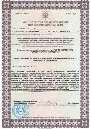 Лицензия на осуществление медицинской деятельности. Адрес