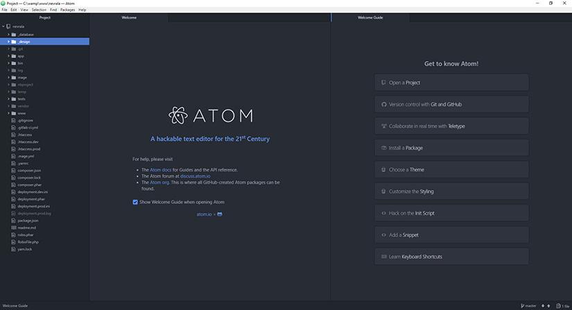 obrazek textoveho editoru atom