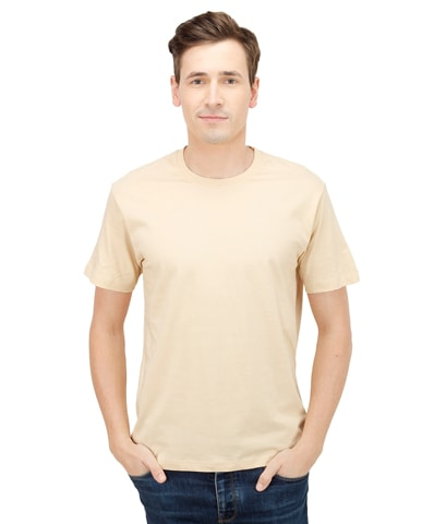 Men's Camel Round Neck T-Shirt Half Sleeve