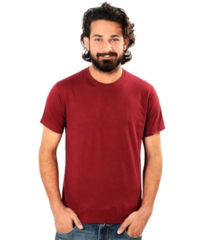 Men's Maroon Round Neck T-Shirt Half Sleeve