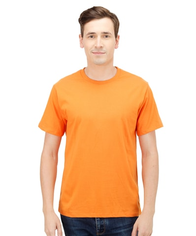 Men's Orange Round Neck T-Shirt Half Sleeve