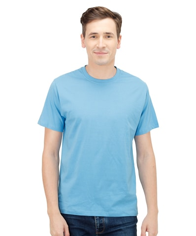 Men's Blue Round Neck T-Shirt Half Sleeve
