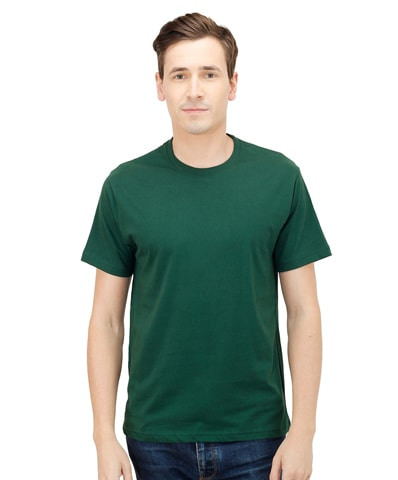 Men's Dark Green Round Neck T-Shirt Half Sleeve