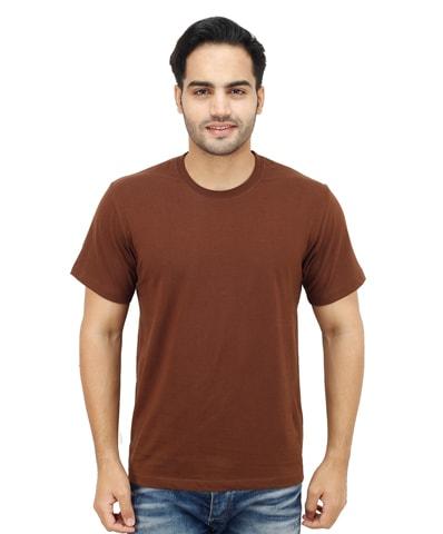 Men's Chocolate Round Neck T-Shirt Half Sleeve