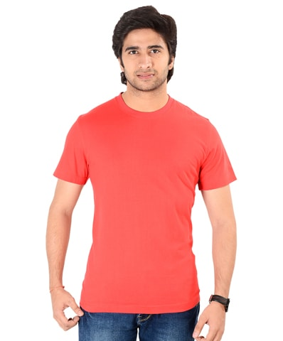 Men's Red Round Neck T-Shirt Half Sleeve
