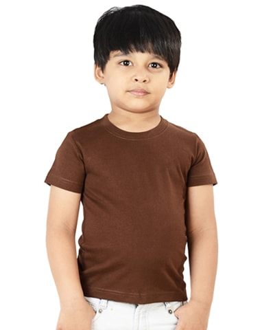 Kid's Chocolate Round Neck T-Shirt Half Sleeve