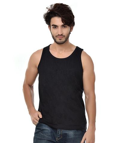 Men's Black Tank Vest