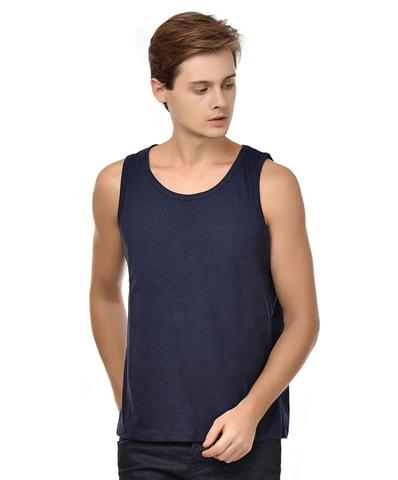 Men's Navy Tank Vest