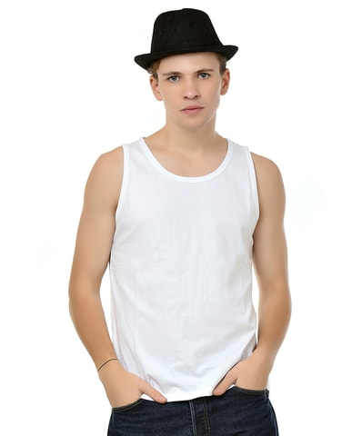 Men's White Tank Vest