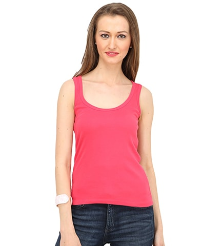 Women's Fuchsia Tank Top
