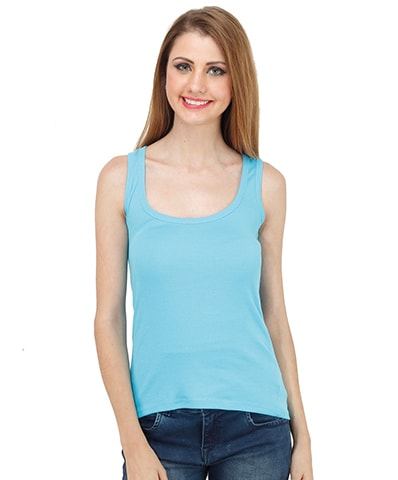Women's Turquoise Tank Top