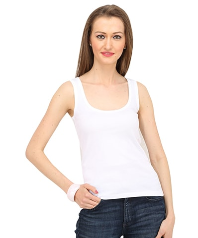 Women's White Tank Top