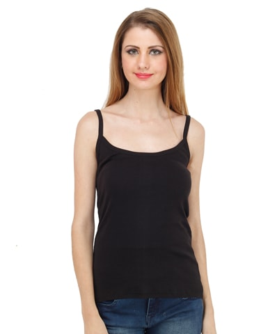 Women's Black Spaghetti Top