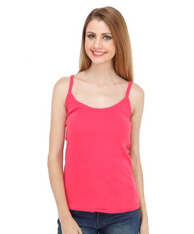 Women's Fuchsia Spaghetti Top