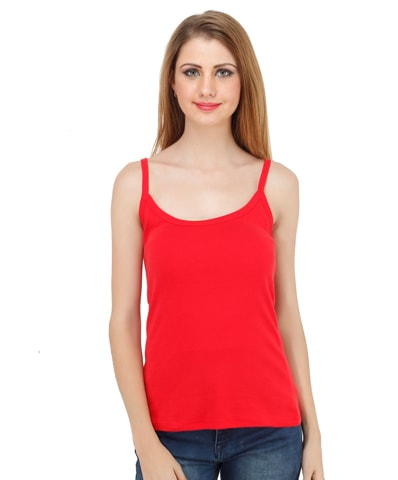 Women's Red Spaghetti Top