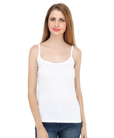 Women's White Spaghetti Top