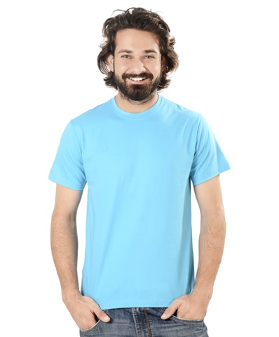 Men's Turquoise Round Neck T-Shirt Half Sleeve