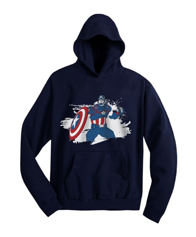 Captain America Action With Shield Hooded Sweatshirt