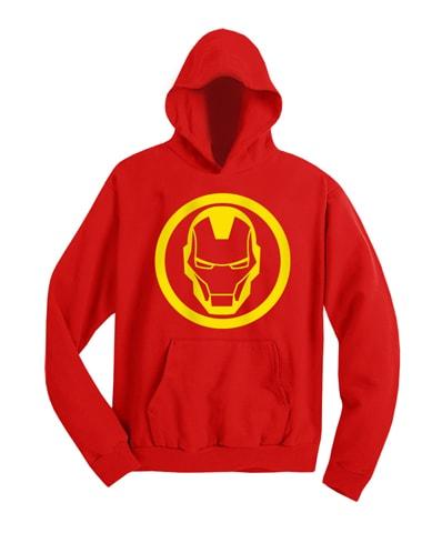 Iron Man Logo Hooded Sweatshirt