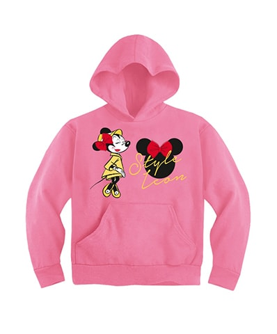Minnie Mouse Style Leon Hooded Sweatshirt