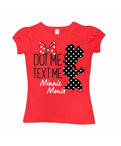 Minnie Mouse Dot Me Text Me Pleated T-Shirt