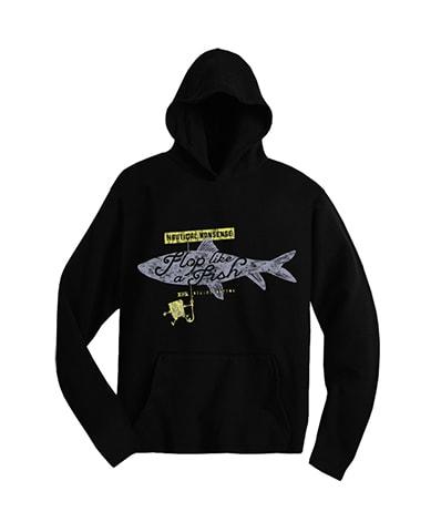 SpongeBob SquarePants Flop Like a Fish Hooded T-Shirt