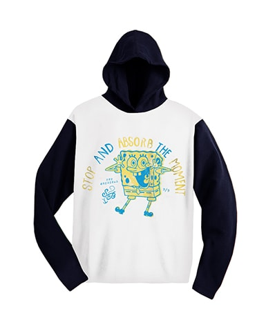 SpongeBob Stop and Absorb the Moment Raglan Hooded T-Shirt