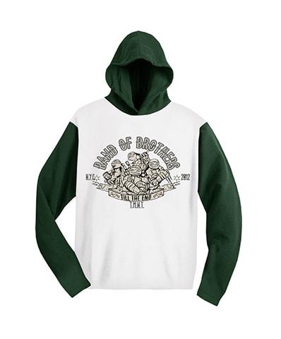 Teenage Mutant Ninja Turtles Band of Brothers Raglan Hooded T-Shirt