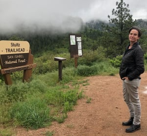 Business owner hiking in Colorado