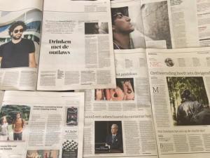 Dutch newspapers previewing Bodkin Ras