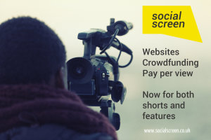 Image of film-maker and text about Social Screen