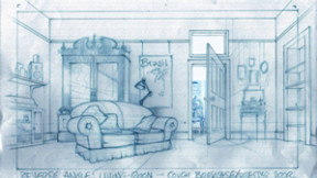 Concept sketch for the livingroom, it's important to know before building any thing that the action will work in the space