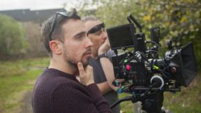 Thinking about the shot. Director Gary J Hewitt and Cinematographer Steve Johnson Futurist Digital on set of Rapture 2.0. Check out our page socialscreen.co.uk/films/rapture-20 Social Screen photo by Chris Quick Suited Caribou Media