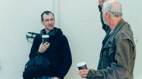 Sound operator Scott Walker and Actor Tony MacDonald on set of Rapture 2.0. To help fund this project go to socialscreen.co.uk/films/rapture-20 Social Screen. Photo by Stuart Liam McConville Kinagram
