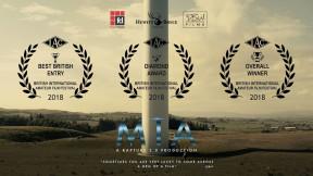 Mia: A Rapture 2.0 Production won Daily Mail award Best British Film BIAFF Best Overall Film IAC Diamond Award
