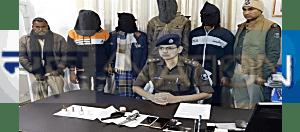 मुजफ्फरपुर में पुलिस के हत्थे चढ़े चार बदमाश, 2 फरार, लूट के लिए करते थे हाई स्पीड बाइक का इस्तेमाल,