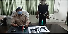 नालंदा में पुलिस ने शख्स को हथियार के साथ किया गिरफ्तार, गोली चलाने का है आरोप