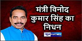 नीतीश कैबिनेट में मंत्री विनोद कुमार सिंह का निधन, लंबे वक्त से अस्पताल में थे भर्ती
