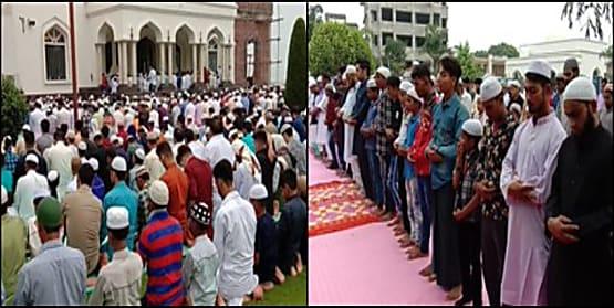 कश्मीर में बकरीद की रौनक, मस्जिदों में अदा की गई नमाज