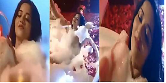 मोनालिसा ने बाथटब में नहाते हुए वीडियो किया शेयर, सोशल मीडिया पर खूब हो रहा वायरल