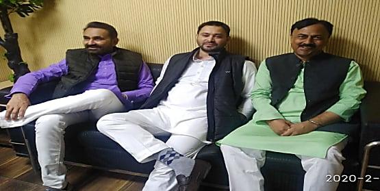 बिहार दौरे पर आए कांग्रेस प्रभारी शक्ति सिंह गोहिल की तेजस्वी यादव से हुई मुलाकात