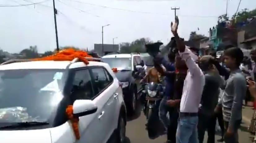 कीर्ति आजाद का विरोध,कांग्रेस कार्यकर्ताओं ने दिखाये काले झंडे