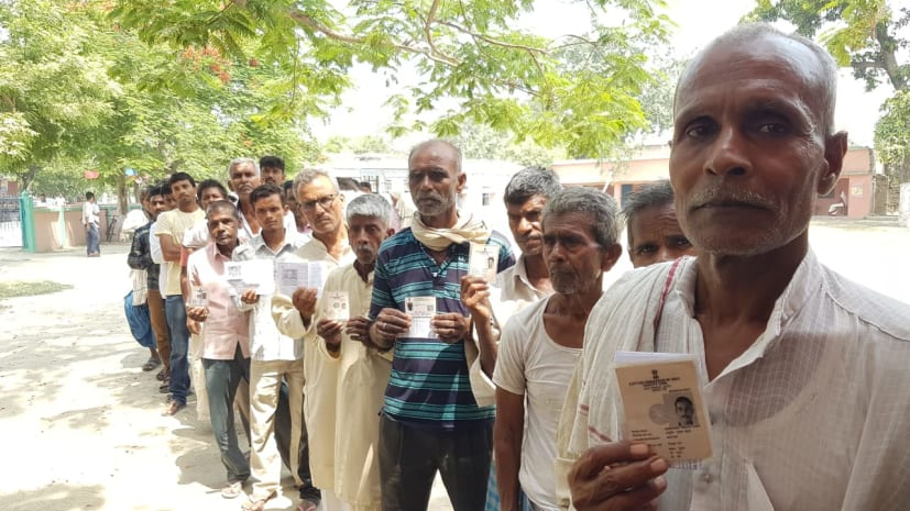 लोकसभा चुनाव: बिहार में 3 बजे तक 45 प्रतिशत वोटिंग