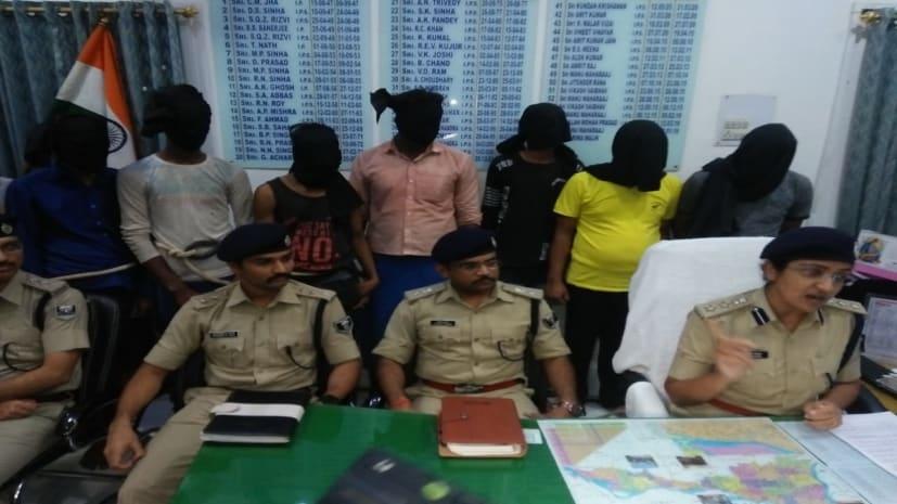 पटना पुलिस ने कई मामलों का किया खुलासा, 14 अपराधी गिरफ्तार, हथियार बरामद