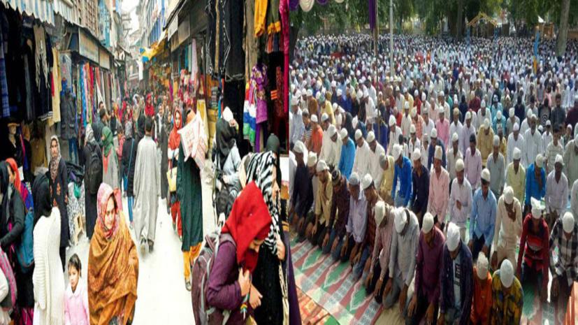 देशभर में अदा की जा रही बकरीद की नमाज, जम्मू कश्मीर में भी हालात सामान्य