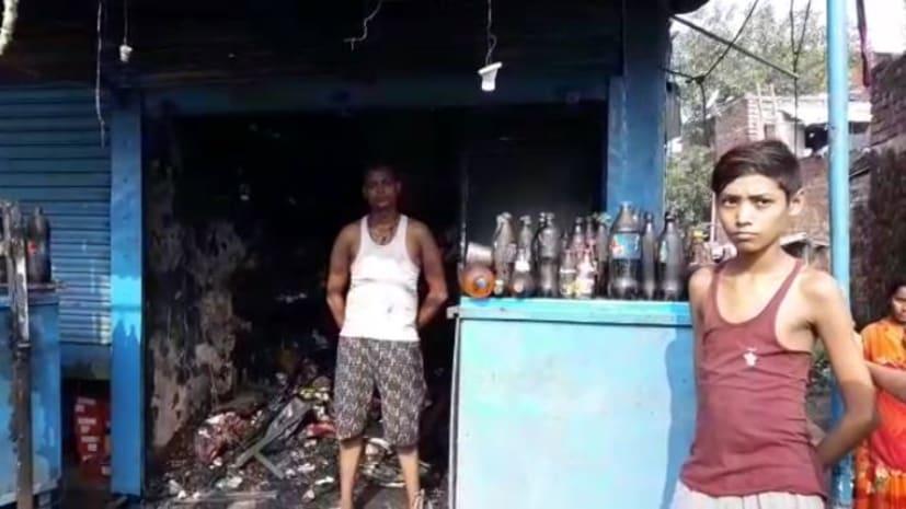 शॉर्ट सर्किट से मिठाई दुकान में लगी आग, लाखों की संपति को नुकसान