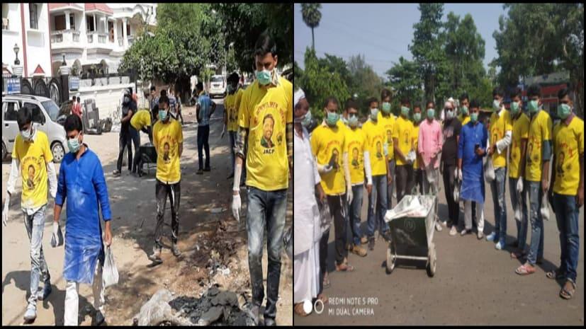 पटना में लोगों की सेवा में अभी भी जुटी है पप्पू यादव की पार्टी, राहत और मेडिकल कैंप के बाद अब शुरू किया ब्लीचिंग पाउडर का छिड़काव