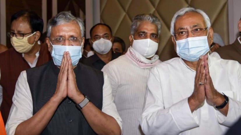 भाजपा नेता पहुंचे CM आवास,नीतीश कुमार के साथ सरकार बनाने पर कर रहे मंथन