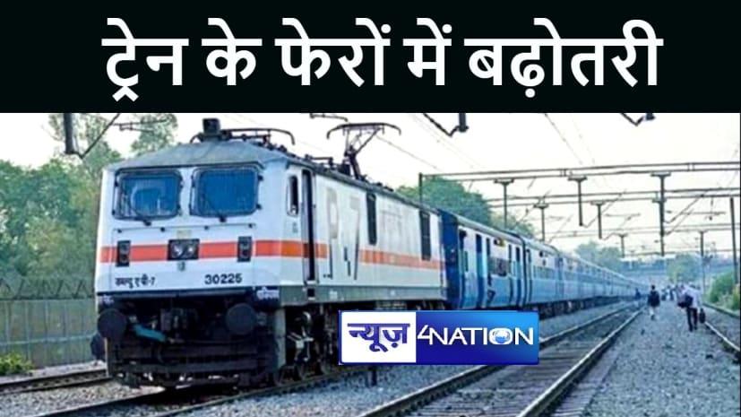 मुंबई सेन्ट्रल-भागलपुर स्पेशल ट्रेन सहित 10 जोड़ी रेलगाड़ियों के फेरों में हुई बढ़ोतरी, देखे लिस्ट