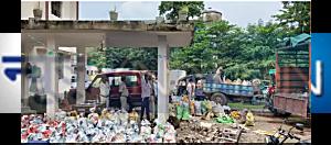 सीतामढ़ी में शराब माफियाओं ने स्कूल को बना रखा था गोदाम, 20 हजार बोतल बरामद, सिंडिकेट का पता लगाने में जुटी पुलिस